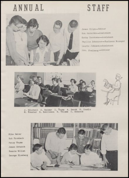 1957 Rib Lake High School Yearbook Page 9