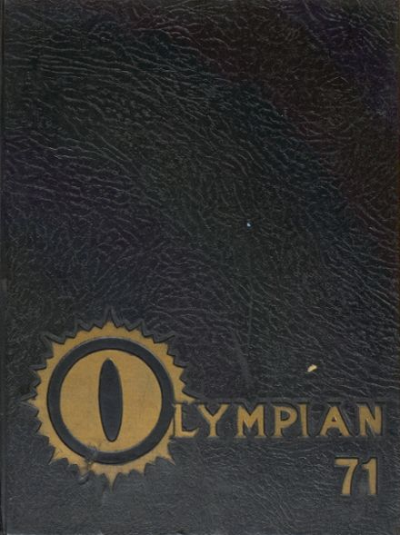 1971 Bassett High School Yearbook Cover