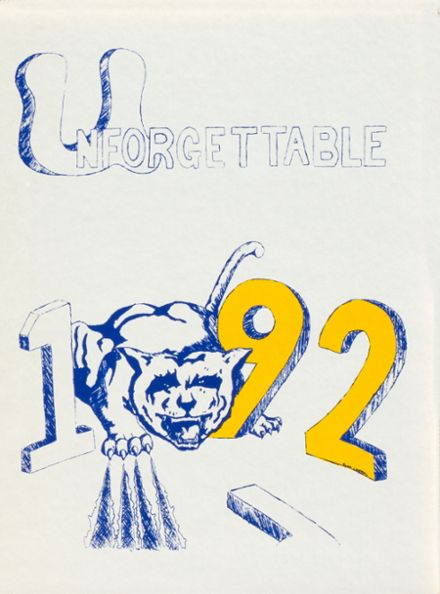 1992 Bath High School Yearbook Cover