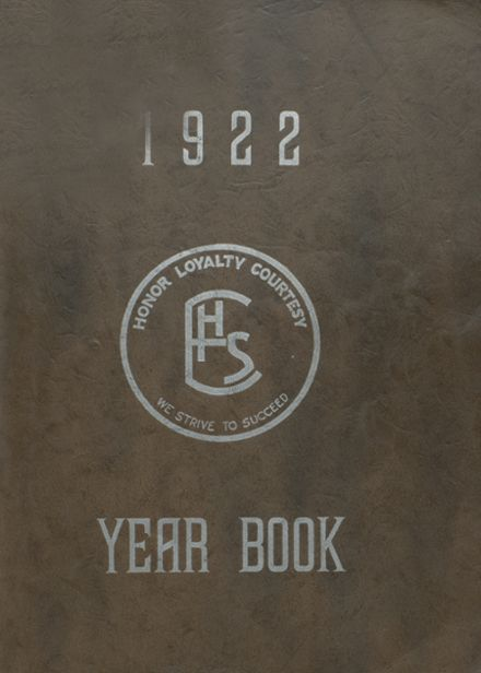 1922 Estherville High School Yearbook Cover