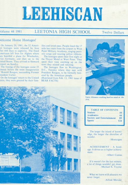 1981 Leetonia High School Yearbook Cover