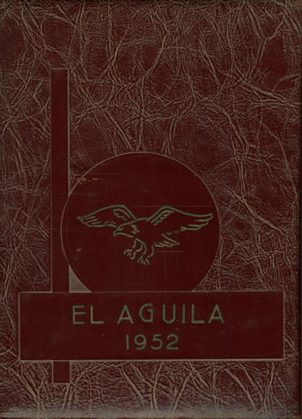 1952 Sanderson High School Yearbook Cover