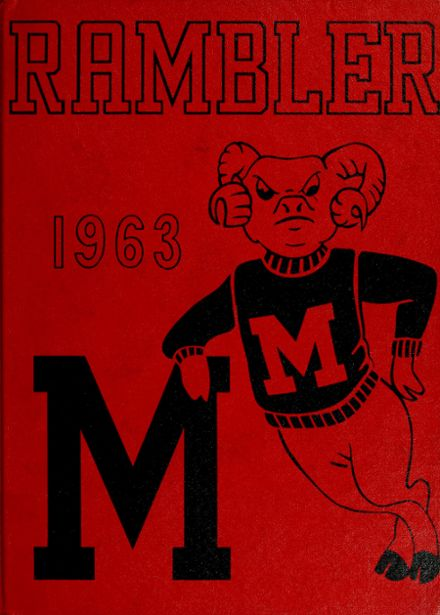 1963 Montrose High School Yearbook Cover
