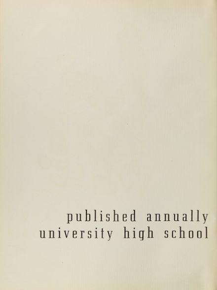 1940 University High School Yearbook Page 6