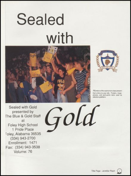 1998 Foley High School Yearbook Page 5