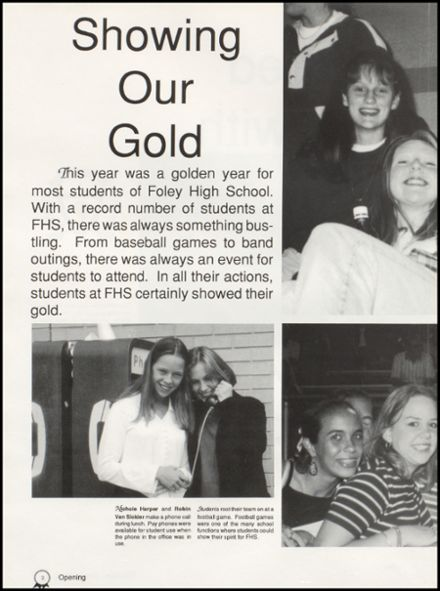1998 Foley High School Yearbook Page 6