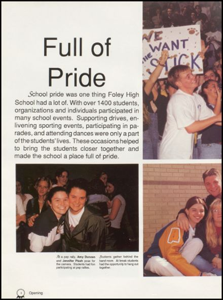 1998 Foley High School Yearbook Page 8