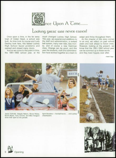 1992 Lackey High School Yearbook Page 6