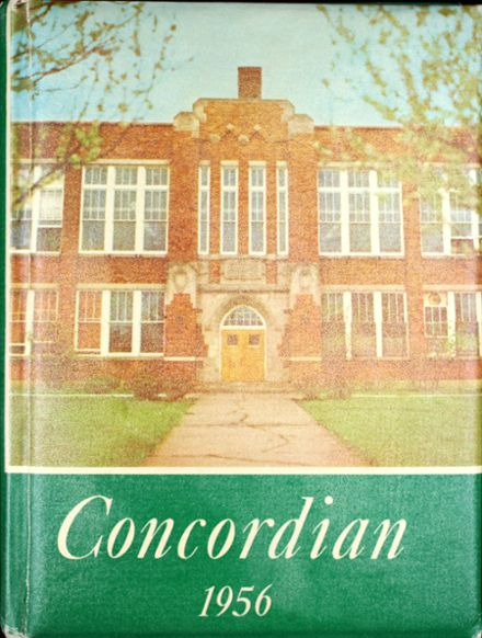 1956 Concord High School Yearbook Cover