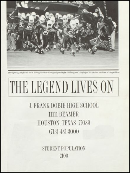 Explore 1995 Dobie High School Yearbook Houston Tx Classmates