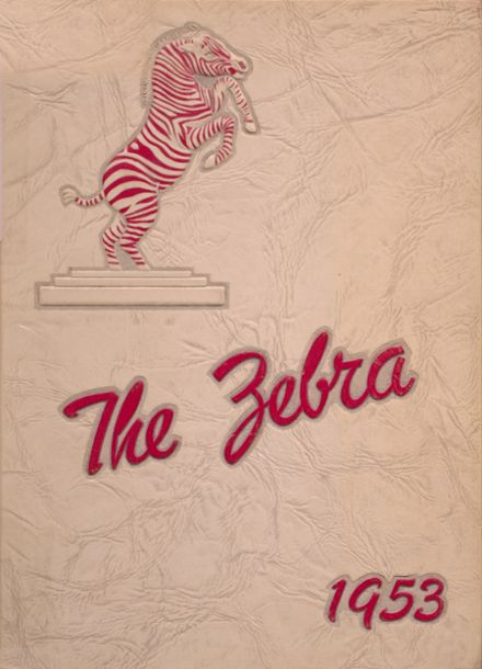 1953 Pine Bluff High School Yearbook Cover