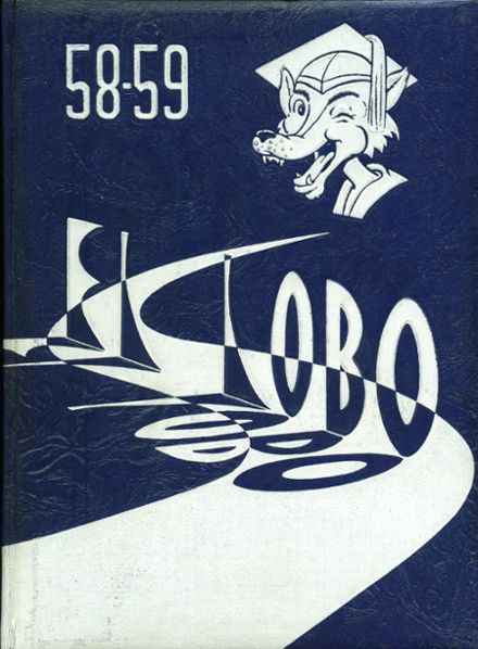1959 Basic High School Yearbook Cover