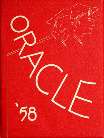 1958 Ossian High School Yearbook Cover
