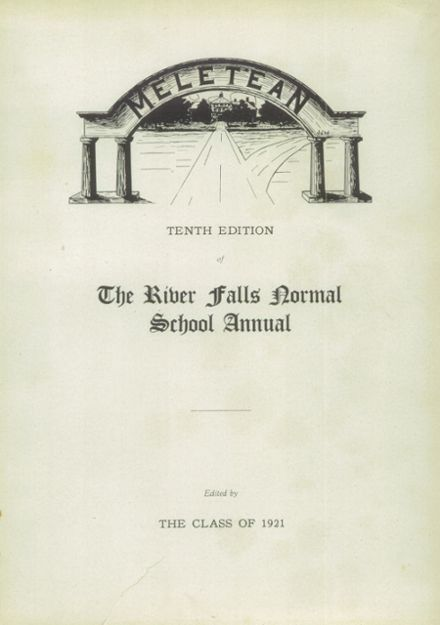 1921 River Falls High School Yearbook Page 3