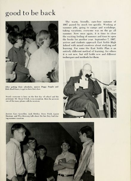 1968 East Noble High School Yearbook Page 9