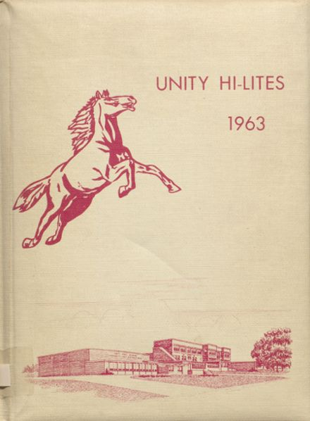 1963 Unity High School Yearbook Cover