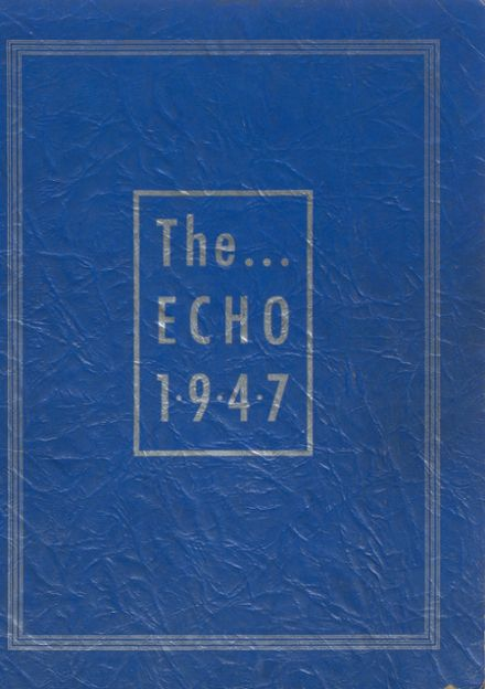 1947 Tri County Area High School Yearbook Cover