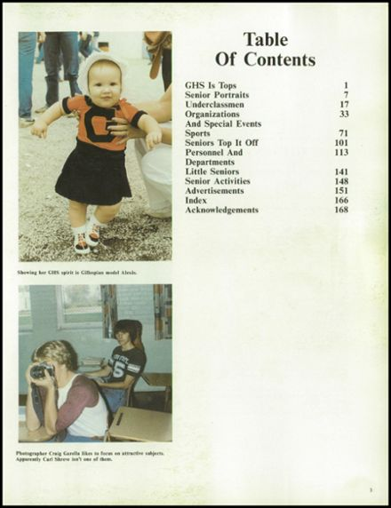 1983 Gillespie Community High School Yearbook Page 7