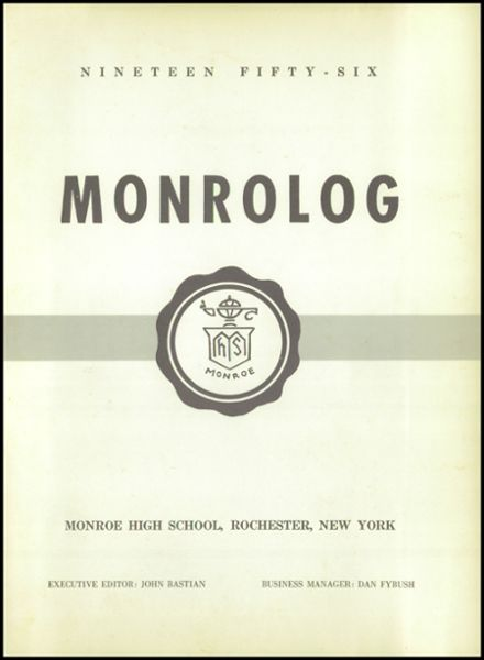 1956 Monroe High School Yearbook Page 5