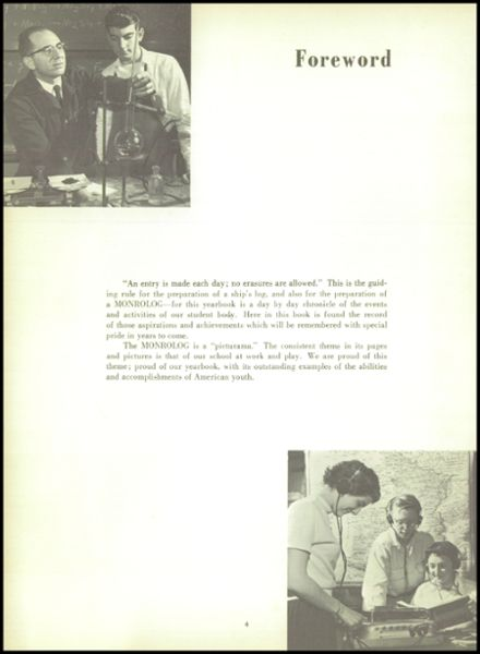 1956 Monroe High School Yearbook Page 8