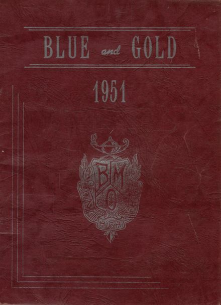 1951 Rothrock High School Yearbook Cover