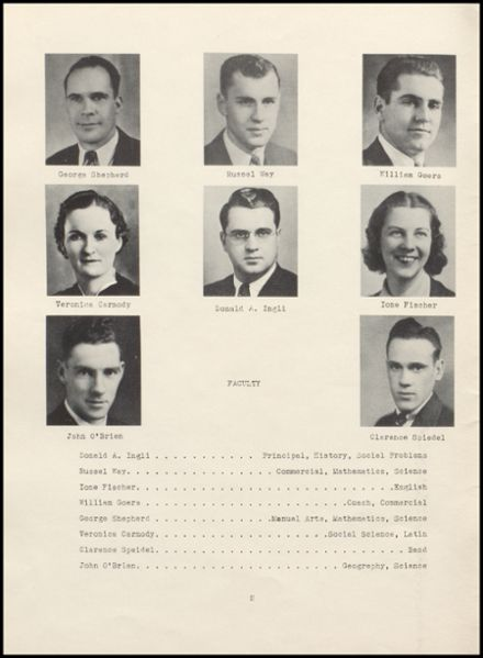 1939 Rib Lake High School Yearbook Page 6