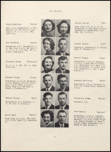 1939 Rib Lake High School Yearbook Page 9
