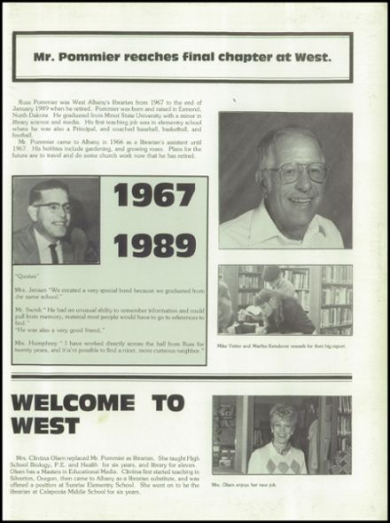 1989 West Albany High School Yearbook Page 7