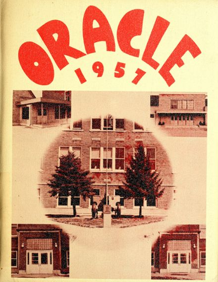 1957 Ossian High School Yearbook Cover