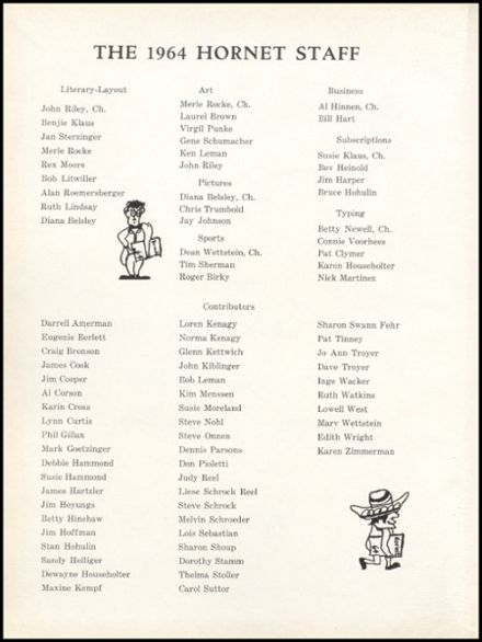 1964 Eureka High School Yearbook Page 6