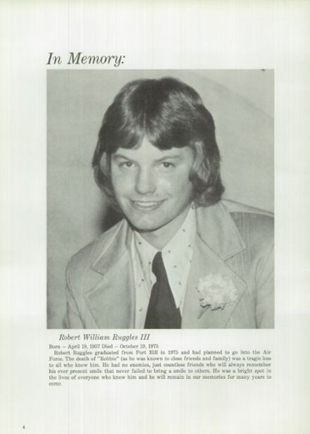 1976 Ft. Hill High School Yearbook Page 8