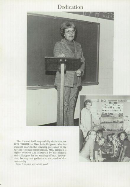 1976 Thomas High School Yearbook Page 8