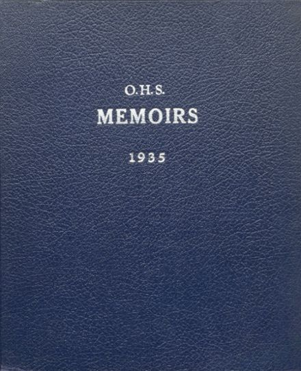 1935 Oneida Community High School Yearbook Cover