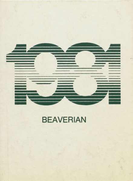 1981 Beaver River Central High School Yearbook Cover