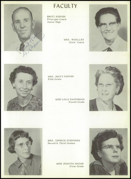 1955 Moran High School Yearbook Page 9