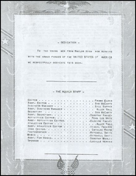 1942 Naylor High School Yearbook Page 3