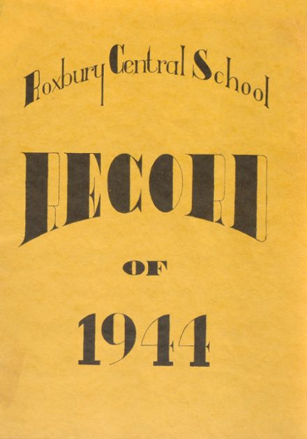 1944 Roxbury Central High School Yearbook Cover