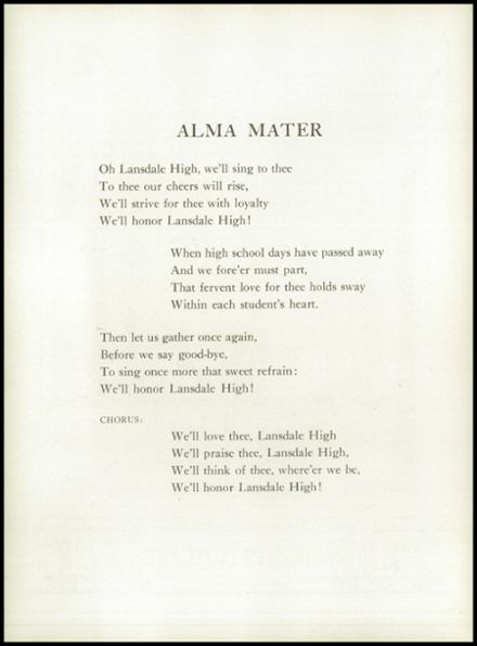 1950 Lansdale High School Yearbook Page 8