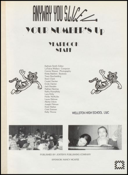 1996 Wellston High School Yearbook Page 5