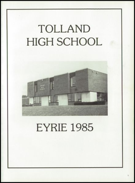 1985 Tolland High School Yearbook Page 5