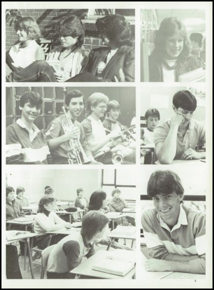 1985 Tolland High School Yearbook Page 9