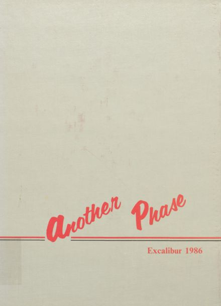 1986 Crown Point High School Yearbook Cover