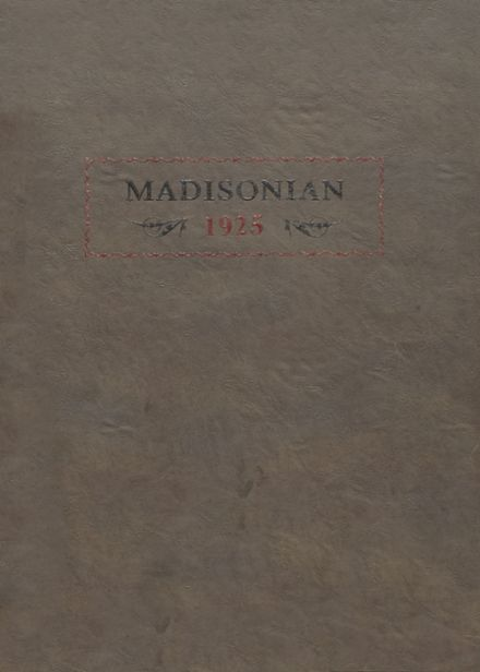 1925 Madison High School Yearbook Cover