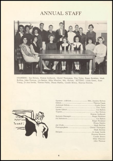 1964 Prague High School Yearbook Page 8
