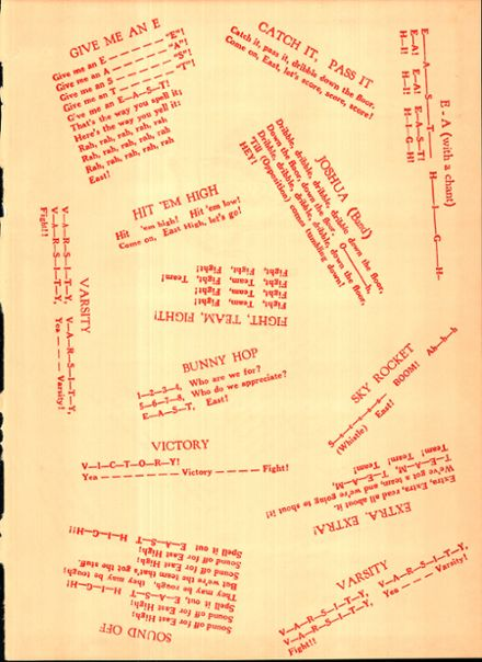 1958 East High School Yearbook Page 3