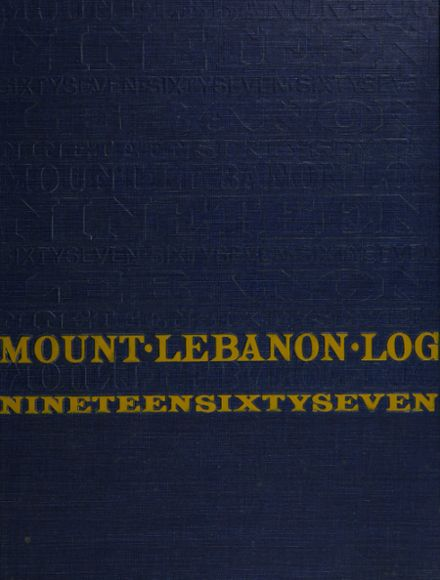 1967 Mt. Lebanon High School Yearbook Cover