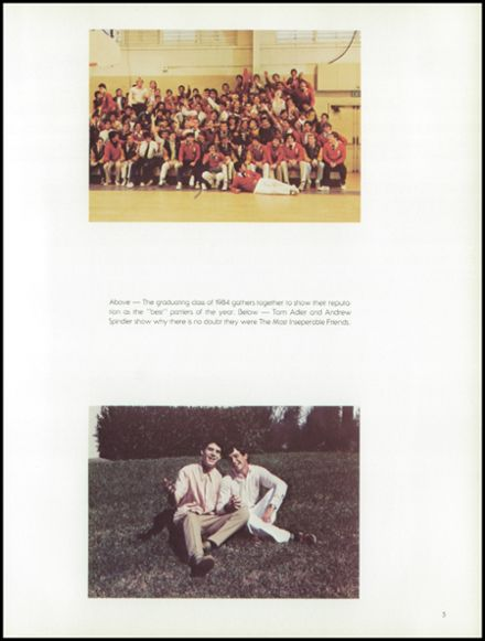 1984 St. Augustine High School Yearbook Page 9