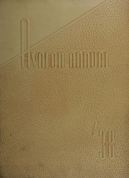1938 Avalon High School Yearbook Cover