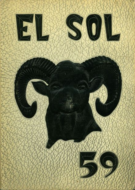 1959 Rancho High School Yearbook Cover