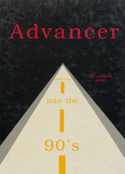 1990 Advance High School Yearbook Cover